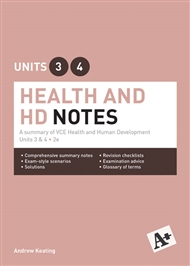 A+ Health and Human Development Notes VCE Units 3 & 4 - 9780170403962