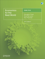 Economics for the Real World Units 3 & 4 Student Book with 1 Access Code for 26 Months - 9780170407014