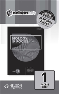 Biology in Focus Year 12 (1 Access Code Card) - 9780170408912