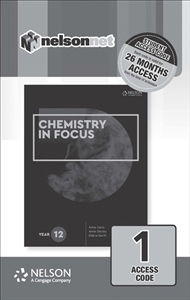 Chemistry in Focus Year 12  (1 Access Code Card) - 9780170409056
