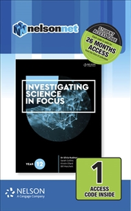 Investigating Science in Focus Year 12 (1 Access Code Card) - 9780170411325