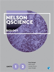 Nelson QScience Biology Units 1 & 2 (Student Book with 4 Access Codes) - 9780170411592