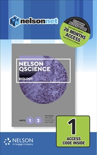 Nelson QScience Biology Units 1 & 2 (1 Access Code Card) - 9780170411653
