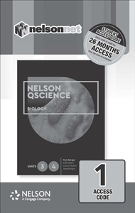 Nelson QScience Biology Units 3 & 4 (1 Access Code Card) - 9780170411738