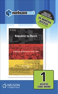 Nelson Modern History Republic to Reich (1 Access Code Card) - 9780170411912