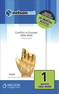Nelson Modern History: Conflict in Europe 1935-1945 (1 Access Code Card) - 9780170412032