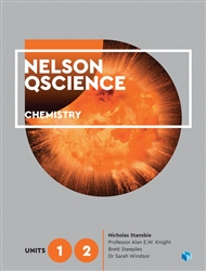 Nelson QScience Chemistry Units 1 & 2 (Student Book with 4 Access Codes) - 9780170412322