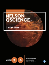Nelson QScience Chemistry Units 3 & 4 Student Book with 1 Access Code for 26 Months - 9780170412407