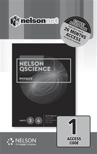 Nelson QScience Physics 3 & 4 (1 Access Code Card) - 9780170412636