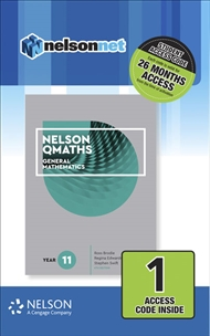 Nelson QMaths 11 Mathematics General (1 Access Code Card) - 9780170412773