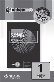 Nelson QMaths 12 Mathematics General (1 Access Code Card) - 9780170412841