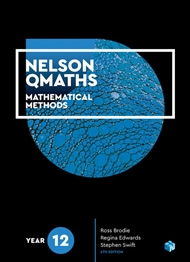 Nelson QMaths 12 Mathematics Methods Student Book with 1 Access Code for 26 Month - 9780170412926