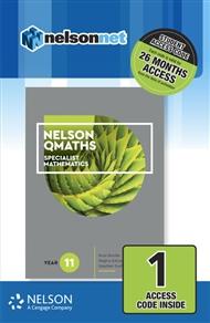 Nelson QMaths 11 Mathematics Specialist (1 Access Code Card) - 9780170413053