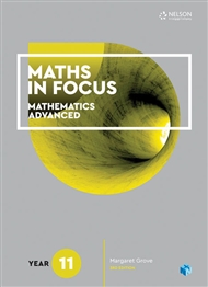Maths in Focus 11 Mathematics Advanced Student Book with 1 Access Code for 26 Months - 9780170413152