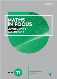 Maths in Focus 11 Mathematics Extension 1 Student Book with 1 Access Code for 26 Months - 9780170413299