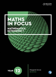 Maths in Focus 12 Mathematics Extension 1 Student Book with 1 Access Code for 26 Months - 9780170413367