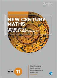 New Century Maths 11 Mathematics Standard (Pathway 2) Student Book with 4 Access Codes - 9780170413565