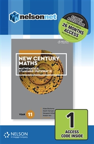 New Century Maths 11 Mathematics Standard (Pathway 2) 1 Access Code Card - 9780170413626
