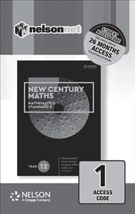 New Century Maths 12 Mathematics Standard 2 (1 Access Code Card) - 9780170413695