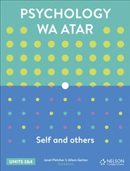 Psychology WA ATAR: Self & Others Units 3 & 4 Student Book with 4 Access Codes - 9780170414180