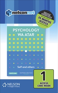 Psychology WA ATAR: Self & Others Units 3 & 4 (1 Access Code Card) - 9780170415187