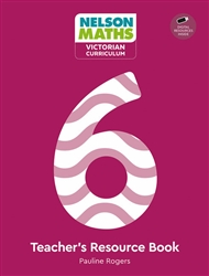 Nelson Maths: Victorian Curriculum 6 Teacher Resource Book + USB - 9780170416849