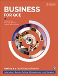 Business for QCE: Units 1 & 2: Creation and Growth Student Book with 4 Access Codes