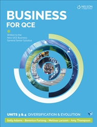 Business for QCE: Units 3 & 4: Diversification and Growth – Student Book with 1 Access Code for 26 Months - 9780170418492