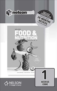 Nelson Food & Nutrition for QCE (1 Access Code Card) - 9780170418621