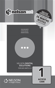 Nelson Digital Solutions for QCE Units 1 - 4 (1 Access Code Card) - 9780170423113