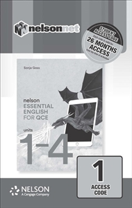 Nelson Essential English for QCE Units 1-4 (1 Access Code Card) - 9780170423120