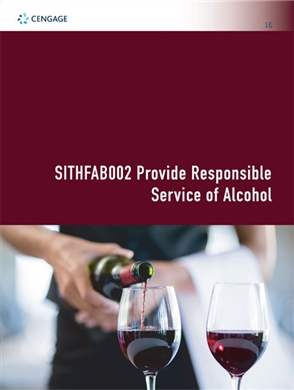 SITHFAB002 Provide Responsible Service of Alcohol - 9780170423144