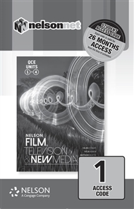 Nelson Film Television and New Media for QCE (1 Access Code Card) - 9780170423663