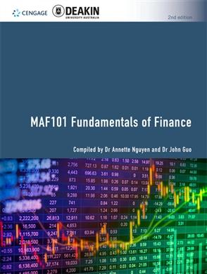 MAF101 Fundamentals of Finance - 9780170426329
