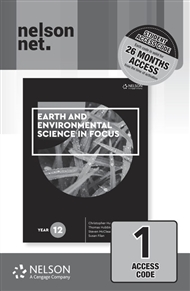 Earth and Environmental Science in Focus Year 12 (1 x 26 month NelsonNetBook access code card) - 9780170438957
