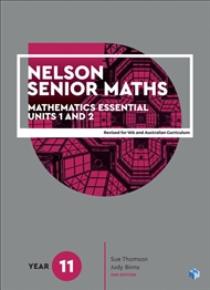 Nelson Senior Maths 11 Mathematics Essential Student Book with 1 x 26 month NelsonNetBook Access Code for the Australian Curriculum - 9780170443906