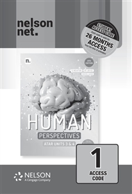Human Perspectives Units 3 & 4 (1 x 26 month NelsonNetBook access code card) - 9780170449229