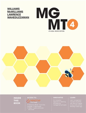 MindTap for Williams/McWilliams' MGMT4 for 2-term Instant Access - 9780170451307