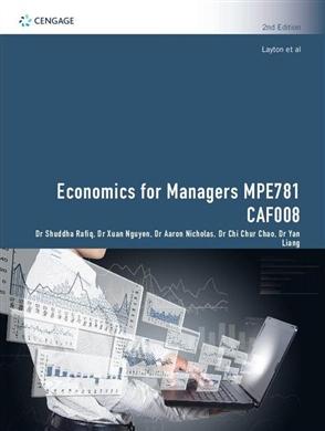 CP1242 - MPE781 Economics for Managers: CAF008 Economics and Quantitative Method - 9780170452779