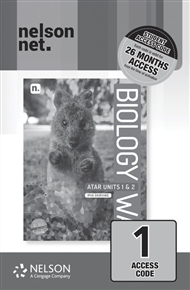 Biology WA ATAR Units 1 & 2 (1 x 26 month NelsonNetBook access code card) - 9780170452908