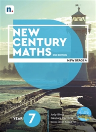 New Century Maths 7 Student Book with 1 x 26 month NelsonNetBook access code - 9780170453059