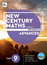 New Century Maths 9 Advanced Student Book with 1 x 26 month NelsonNetBook access code - 9780170453325
