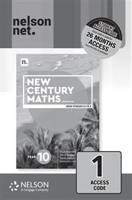 New Century Maths 10 (1 x 26 month NelsonNetBook access code card) - 9780170453479