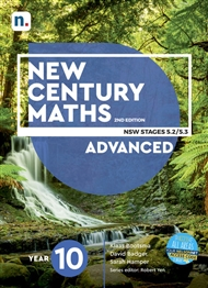 New Century Maths 10 Advanced Student Book with 1 x 26 month NelsonNetBook access code - 9780170453509