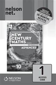 New Century Maths 10 Advanced (1 x 26 month NelsonNetBook access code card) - 9780170453561