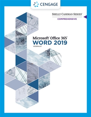 Shelly Cashman Series® Microsoft® Office 365® & Word 2019 Comprehensive - 9780357026427