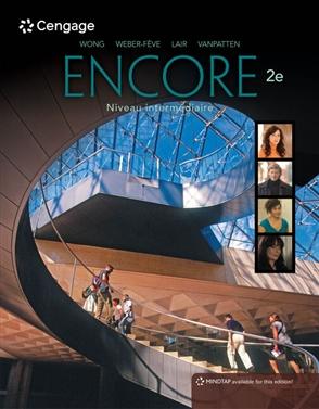 Encore Intermediate French, Student Edition: Niveau intermediaire - 9780357034866