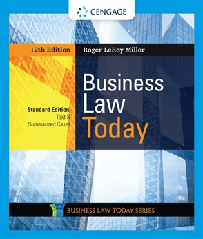 Business Law Today, Standard: Text & Summarized Cases - 9780357038161