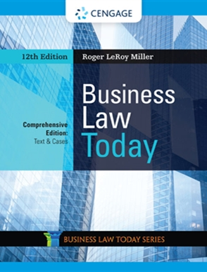 Business Law Today, Comprehensive - 9780357038185