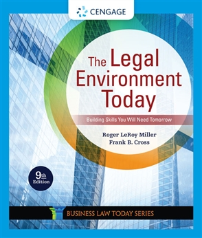 The Legal Environment Today - 9780357038192
